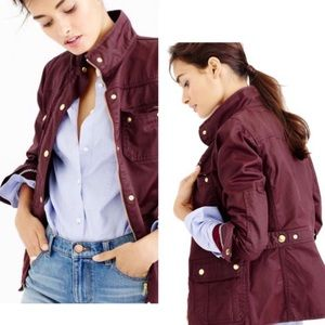 J. Crew Downtown Field Jacket in burgundy